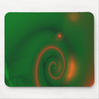 Green & Orange Abstract Mouse Pad