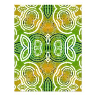 Green Orange Abstract Pattern Letterhead