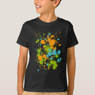 Green Orange And Blue Paint Splat's T-Shirt