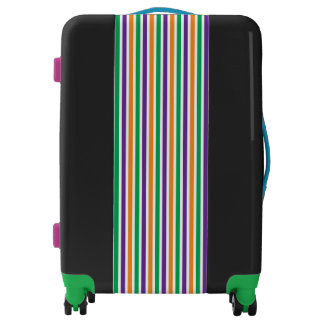 Green Orange And Purple Striped Colorful Pattern Luggage