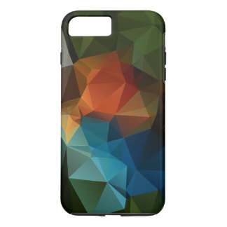 Green Orange Blue Abstract Pyramid Pattern iPhone 8 Plus/7 Plus Case