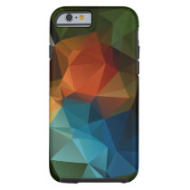 Green Orange Blue Abstract Pyramid Pattern Tough iPhone 6 Case