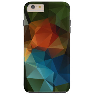 Green Orange Blue Abstract Pyramid Pattern Tough iPhone 6 Plus Case