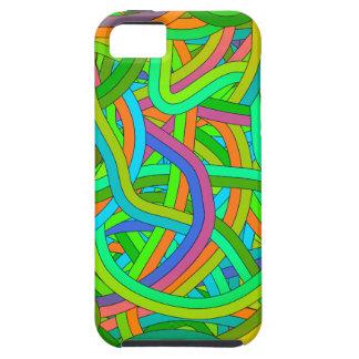 Green, Orange, Blue Tangle Ball Design iPhone 5 Case
