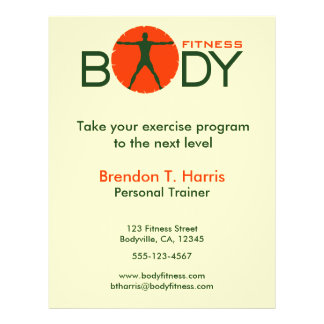 Green Orange Body Madness Personal Trainer Flyer