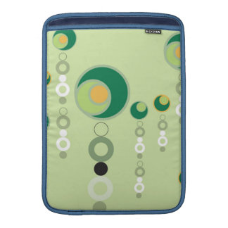 Green & Orange Bubble Blossoms Sleeve For MacBook Air