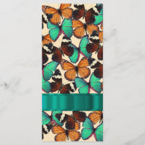Green & orange butterflies