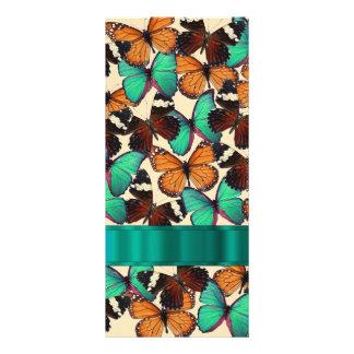 Green & orange butterflies personalized rack card