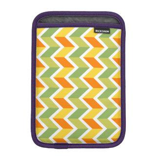 Green Orange Chevron Pattern Zig Zag Design Art Sleeve For iPad Mini