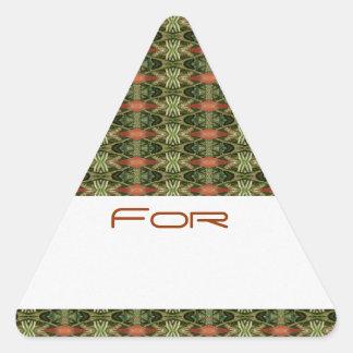 Green & Orange Diamonds Patterned Gift Tag