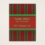 green orange distressed lines business card