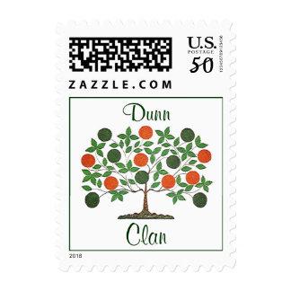 Green & Orange Folkart Style Family Tree Stamp