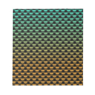 Green Orange Geometric Gradient Notepad
