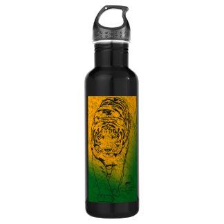 Green/Orange Lilly Stainless Steel Water Bottle