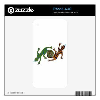 Green & Orange Looping Lizards iPhone 4S Decal