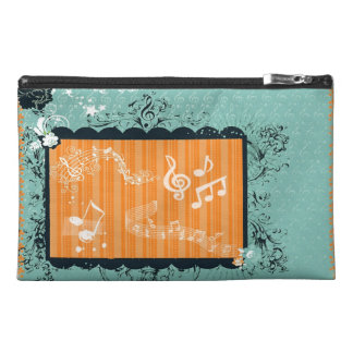 Green & Orange Musical Design  Travel Accessory Ba Travel Accessory Bag