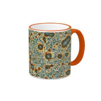 Green & Orange Natural Fractal Vortex Print Mug