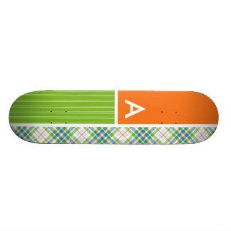 Green, Orange Plaid Skateboards