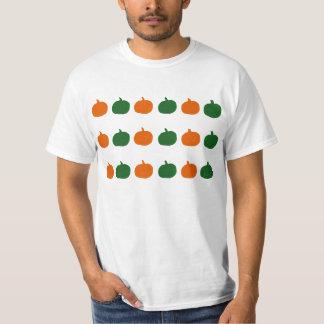 Green & orange pumpkins shirt