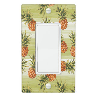 Green Orange Tropical Pineapple Fruit Pattern Light Switch Cover