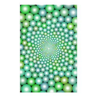 Green Orbs Stationery