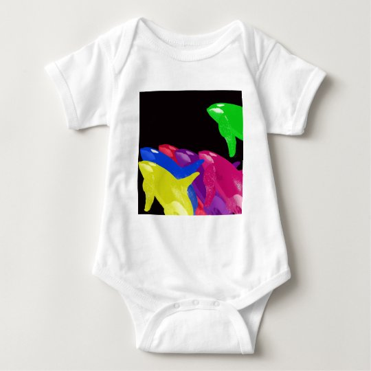 Green Orca Whale Is Heads Above The Crowd Baby Bodysuit
