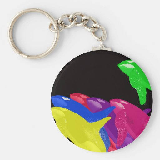 Green Orca Whale Is Heads Above The Crowd Basic Round Button Keychain