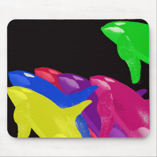 Green Orca Whale Is Heads Above The Crowd Mouse Pad