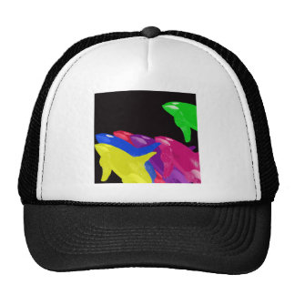 Green Orca Whale Is Heads Above The Crowd Trucker Hat