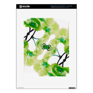 Green Orchid abstract Ipad skin