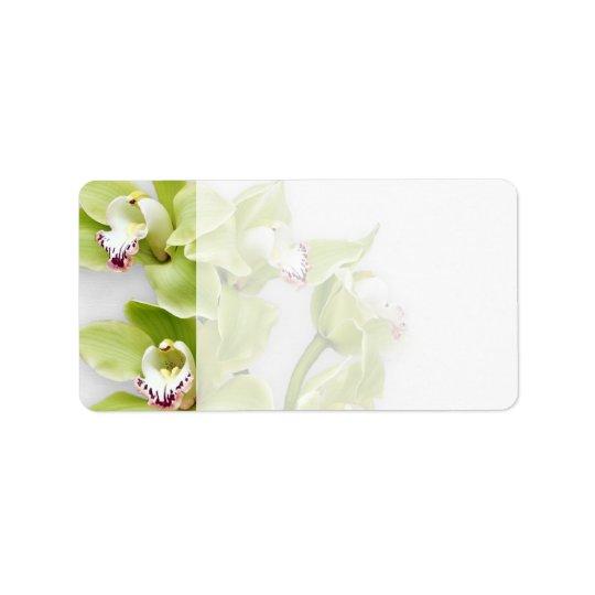 green orchid blank wedding address labels zazzle com