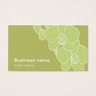 Green orchid business card