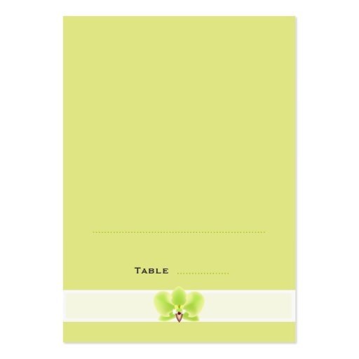 Green orchid folded place cards business card templates for Ampad business card templates