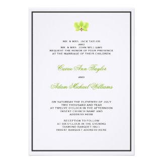 Green Orchid Invitation