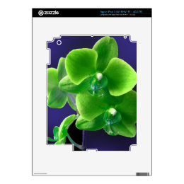 Green Orchid iPad 3 Skin