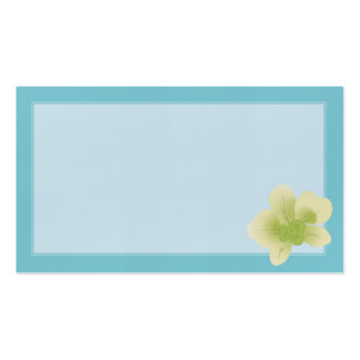 Green Orchid Wedding Placecards Double-Sided Standard Business Cards (Pack Of 100)