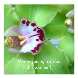 Green Orchids invitations