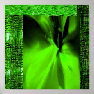 GREEN ORGANIC OGGUN BY LIZ LOZ POSTER