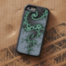 Green Ornament - stylish fractal design Tough Xtreme iPhone 6 Case