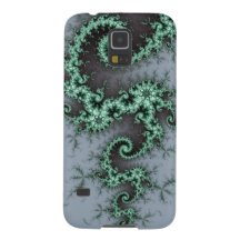 Green Ornament - stylish fractal design Cases For Galaxy S5