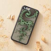 Green Ornament - stylish fractal design Carved® Maple iPhone 6 Bumper Case