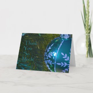 Green Ornament Thank You Card card