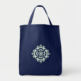 Green ornamental flower - Shopping tote bag