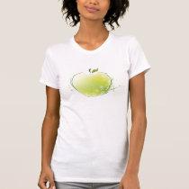 Green Ornate Apple T-Shirt