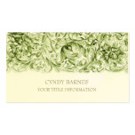Green Ornate Baroque Business Card