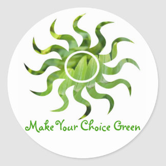 Green Our Earth Classic Round Sticker