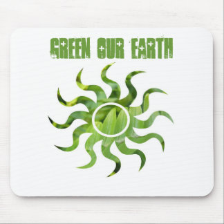 Green Our Earth Mouse Pad