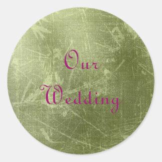 Green Our Wedding Sticker