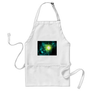 Green Outer Space Adult Apron