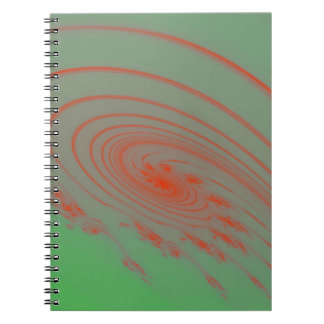 Green outer space spiral note book